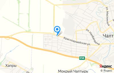 Местоположение на карте пункта техосмотра по адресу Ростовская обл, с Чалтырь, ул Красноармейская, д 122