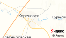 Отели города Кореновск на карте