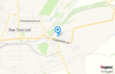 Местоположение на карте пункта техосмотра по адресу Липецкая обл, п Лев Толстой, ул Садовая, д 3