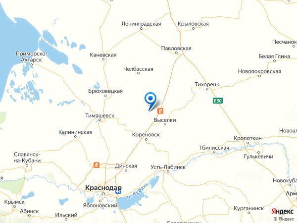 поселок Братский на карте