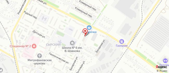 Карта расположения пункта доставки Липецк Ангарская в городе Липецк