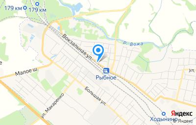 Местоположение на карте пункта техосмотра по адресу Рязанская обл, г Рыбное, ул Вокзальная, д 22
