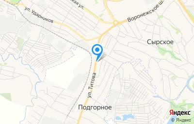 Местоположение на карте пункта техосмотра по адресу Липецкая обл, Липецкий р-н, с Подгорное, ул Титова