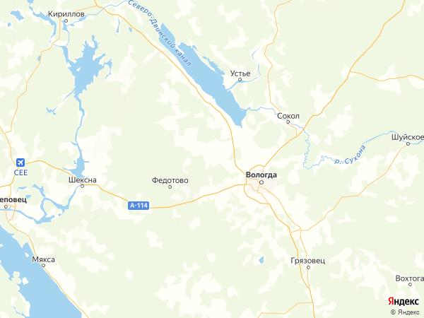 деревня Стрелково на карте