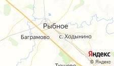 Отели города Рыбное на карте
