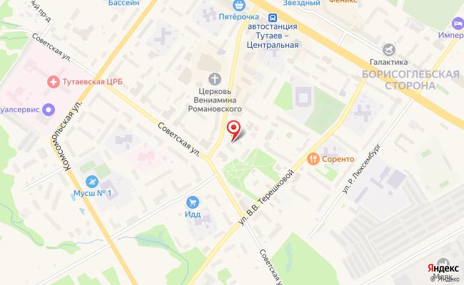Карта расположения пункта доставки Тутаев Моторостроителей в городе Тутаев