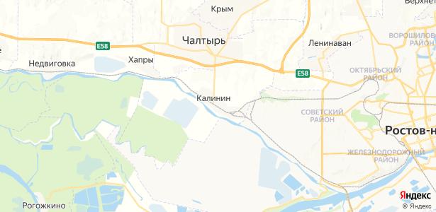 Калинин на карте