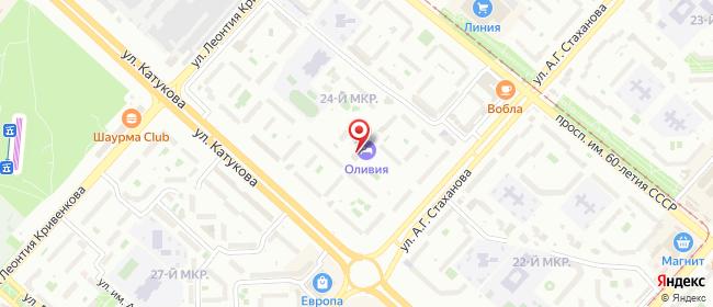 Карта расположения пункта доставки Липецк Катукова в городе Липецк