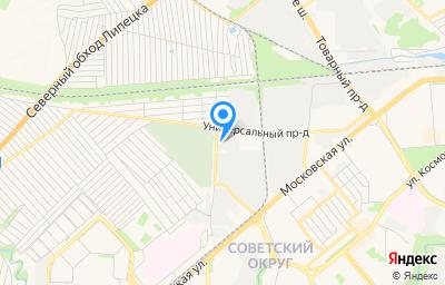 Местоположение на карте пункта техосмотра по адресу г Липецк, проезд Универсальный, влд 10А