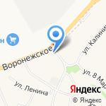 Автокомплекс на карте Липецка