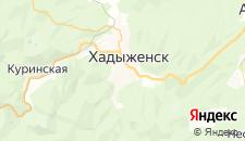 Отели города Хадыженск на карте