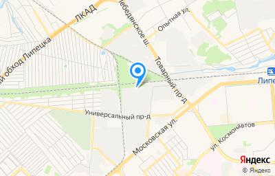 Местоположение на карте пункта техосмотра по адресу г Липецк, проезд Поперечный, стр 33
