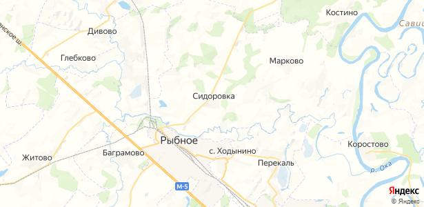 Сидоровка на карте
