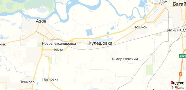 Кулешовка на карте