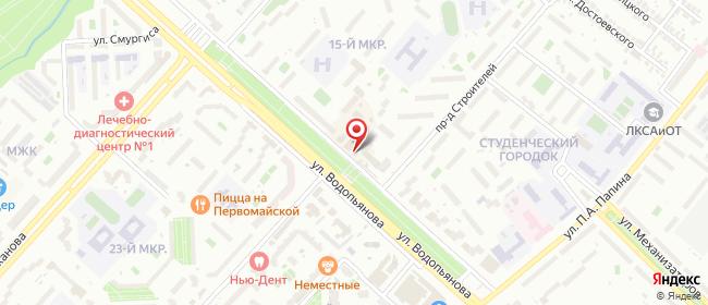 Карта расположения пункта доставки Липецк 15-й микрорайон в городе Липецк