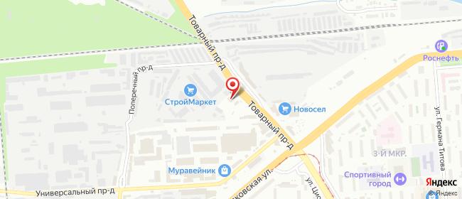 Карта расположения пункта доставки Липецк Товарный в городе Липецк