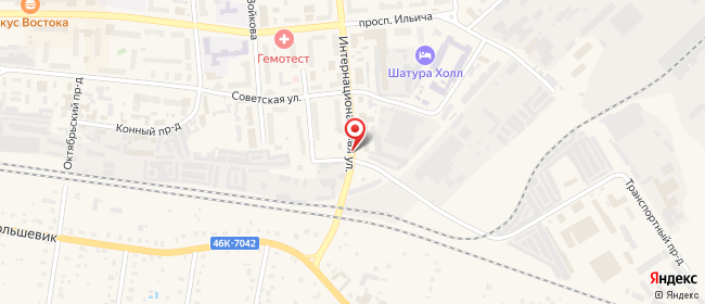 Карта расположения пункта доставки Халва в городе Шатура