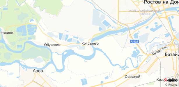 Колузаево на карте