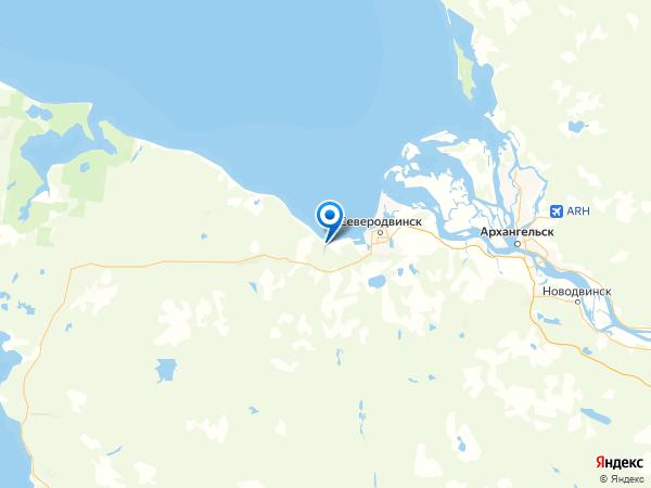 поселок Солза на карте