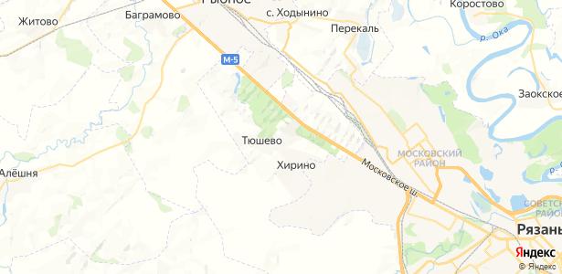 Тюшево на карте