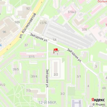 г. Липецк, ул. Звездная,1 на карта