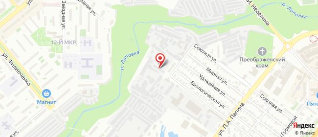 Карта расположения пункта доставки Липецк Героя России Эдуарда Белана в городе Липецк