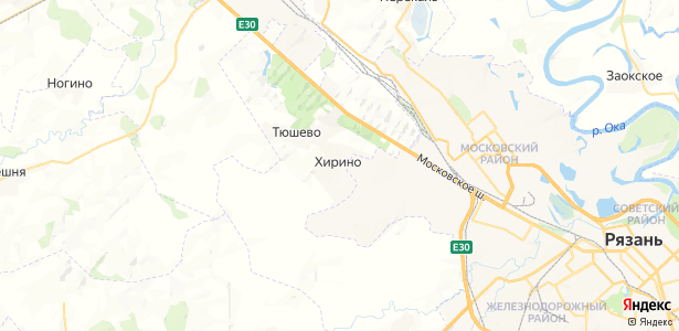 Хирино на карте