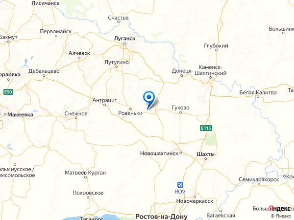 поселок городского типа Вальяновское на карте