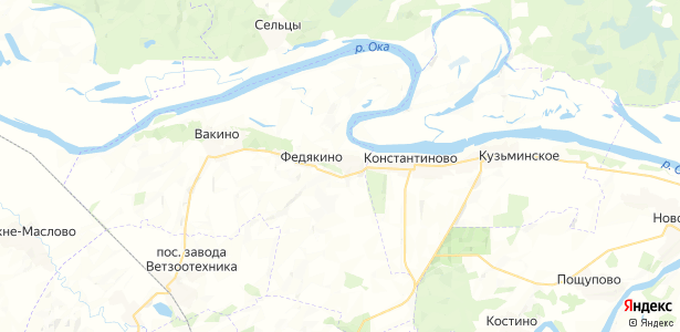 Федякино на карте