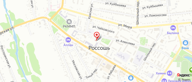 Карта расположения пункта доставки Ростелеком в городе Россошь