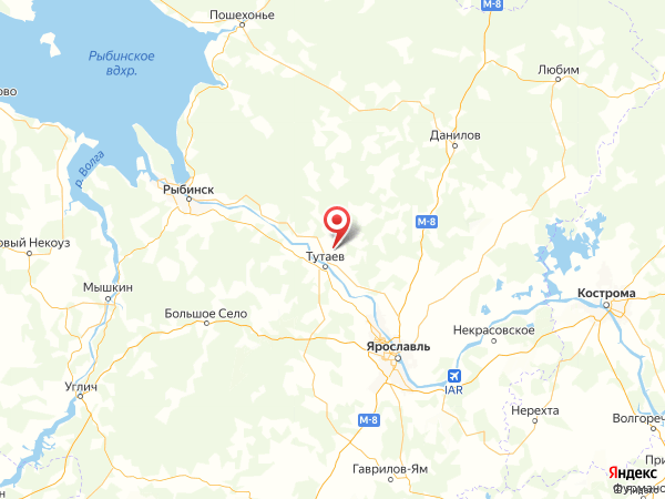 деревня Калино на карте