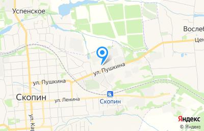 Местоположение на карте пункта техосмотра по адресу Рязанская обл, г Скопин, ул Пушкина, д 85