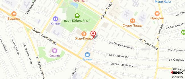 Карта расположения пункта доставки СИТИЛИНК в городе Россошь