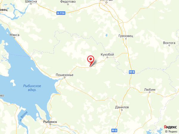 деревня Никитино на карте