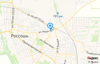 Местоположение на карте пункта техосмотра по адресу Воронежская обл, г Россошь, ул Мира, д 140Б