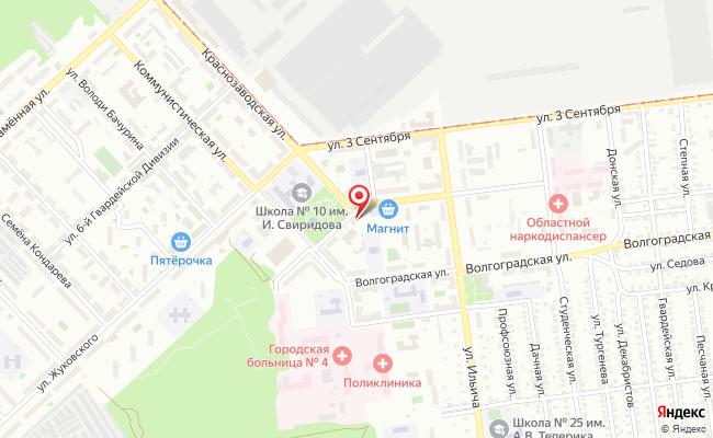 Карта расположения пункта доставки Халва в городе Липецк