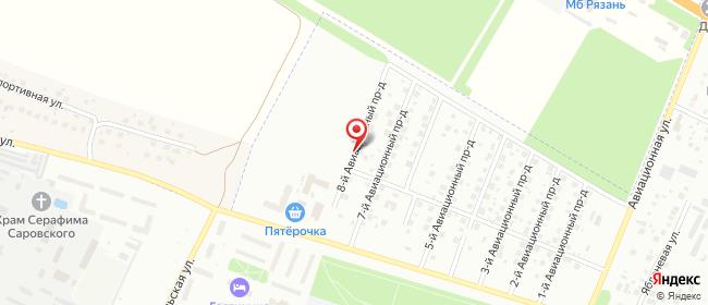 Карта расположения пункта доставки Халва в городе Рязань