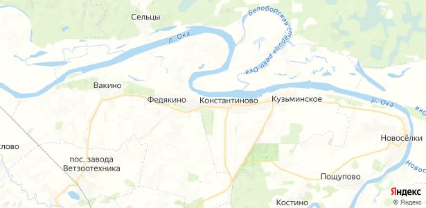 Константиново на карте