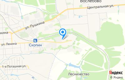 Местоположение на карте пункта техосмотра по адресу Рязанская обл, г Скопин, ул Ленина, д 159