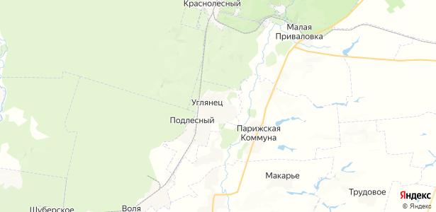 Углянец на карте