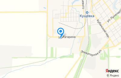 Местоположение на карте пункта техосмотра по адресу Краснодарский край, ст-ца Кущевская, ул Гагарина, д 14/1