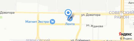 Банкомат АКБ Авангард на карте Ростова-на-Дону