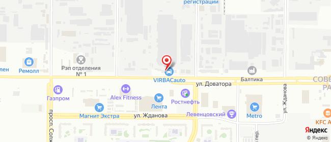 Карта расположения пункта доставки DPD Pickup в городе Ростов-на-Дону