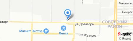 Доноптпродукт на карте Ростова-на-Дону