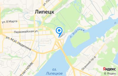 Местоположение на карте пункта техосмотра по адресу г Липецк, ул К.Маркса, д 27