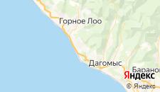 Отели города Нижнее Учдере на карте