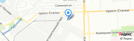 Парус на карте Ростова-на-Дону