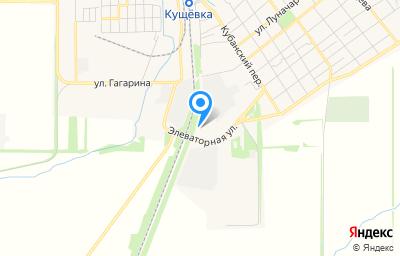 Местоположение на карте пункта техосмотра по адресу Краснодарский край, ст-ца Кущевская, пер Кубанский, д 96А