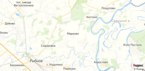 Марково на карте