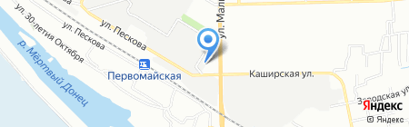 Спектр на карте Ростова-на-Дону